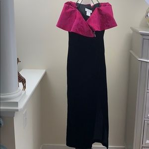 Gunne Sax Velvet Dress Size Small Maxi 80's